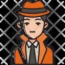 Detective Spy Agent Icon