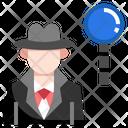 Detective Secret Agent Investigate Icon
