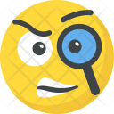 Detective Curious Smiley Icon