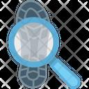 Magnifier Shoeprint Crime Icon