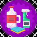 Detergent Spray Bottle Cleaning Icon