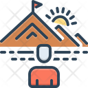 Determine Mountain Top Icon