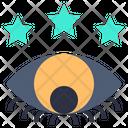 Views Eye Star Icon