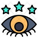 Views Eye Star Icon