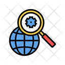 Earth Gear Research Icon