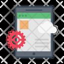 Mobile Cloud Coding Development Cloud Icon