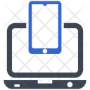 Computer Connect Smart Phone Icon