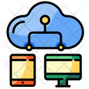 Device Connected Cloud Icon