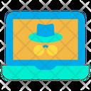 Spy Laptop Spy Thief Icon