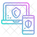 Monitor Shield Data Icon