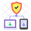 Data Download Devices Security Protected Devices Icon