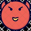 Devil Emot Smiley Icon