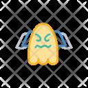 Creepy Halloween Ghost Icon
