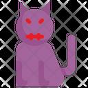 Devil Cat Halloween Icon