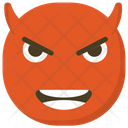 Devil Face Angry Expressions Devil Emoji Icon