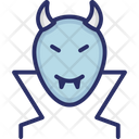 Devil Face Halloween Mask Spooky Face Icon
