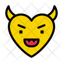 Angry Face Heart Icon