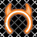 Halloween Horns Celebration Icon