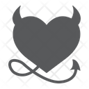 Devil Heart Valentine Icon