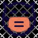 Devil Smile Emoji With Face Mask Emoji Icon