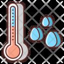 Dew Point Humidity Autometer Moisture Percentage Icon