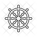 Dharma Wheel Buddhism Icon