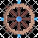 Dharma Wheel Hinduism Jainism Icon