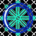 Dharma Wheel Icon
