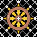 Dharma Wheel Dharma Chakra Buddhism Wheel Icon