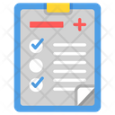 Diagnosis Report Medical Treatment Icon