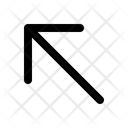 Diagonal Arrow Left Icon