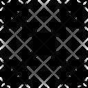 Diagonal all direction arrow Icon
