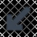 Arrow Diagonal Direction Icon
