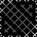 Diagonal Arrow Direction Icon