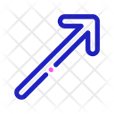 Diagonal Direction Right Icon