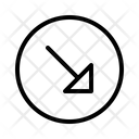 Diagonal Arrow Arrow Down Icon