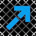 Arrow Diagonal Sign Icon