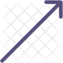 Diagonal Arrow Up Right Icon