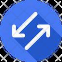 Diagonal Arrows Arrow Arrows Icon