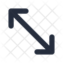 Diagonal Bidirectional Arrow Icon