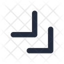 Diagonal Double Chevron Icon