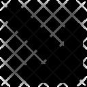 Diagonal Down Arrow Icon