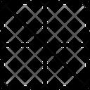 Diagonal Down Border Interface Essentials Table Light F Icon