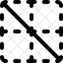 Diagonal Down Border Interface Essentials Table Regular F Icon