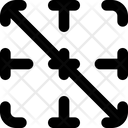 Diagonal Down Border Interface Essentials Table Bold F Icon