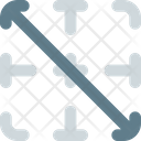 Diagonal Down Border Interface Essentials Table Color F Icon