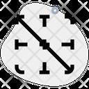 Diagonal Down Border Icon