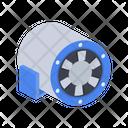 Diagonal Electrical Fan Icon