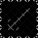 Diagonal left right arrow Icon