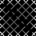 Diagonal Midpoint Icon